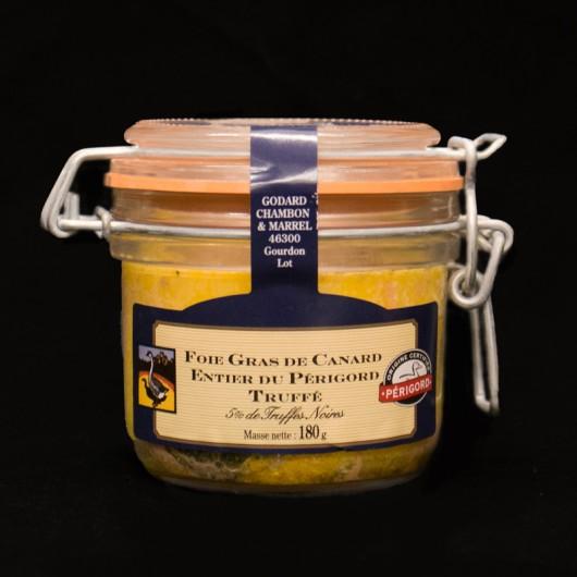 Foie Gras de Canard Entier Truffé du Perigord 180gr