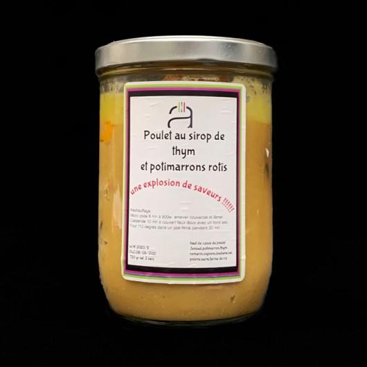 Poulet au sirop de thym et potimarrons rôtis -720g