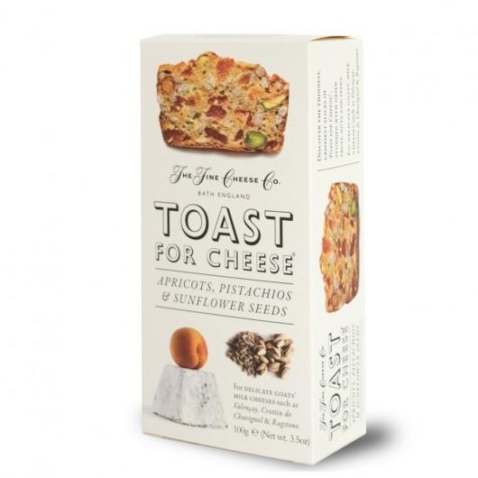 Toast for Cheese Abricot, Pistache et Graines de Tournesol