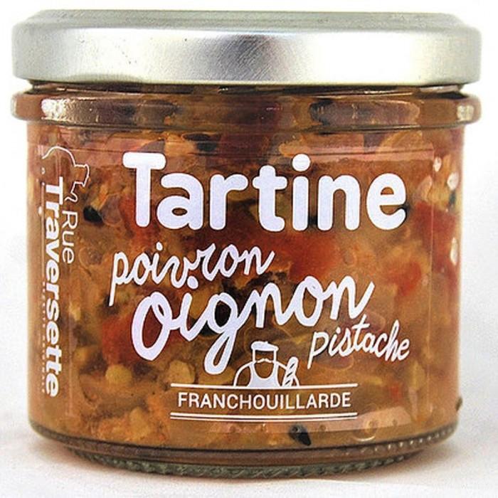 Tartinerie Oignon, Poivron & Pistache