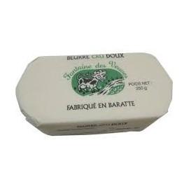 Beurre cru de baratte doux