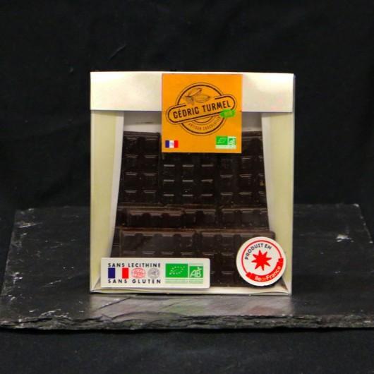 Mini Tablettes de Chocolat Noir au Caramel et pointe de Sel Bio