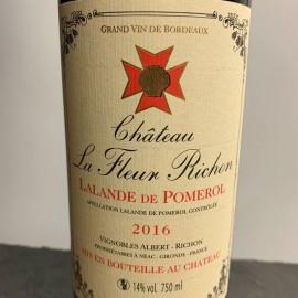 Vin Lalande de Pommerol Château la fleur Richon demi