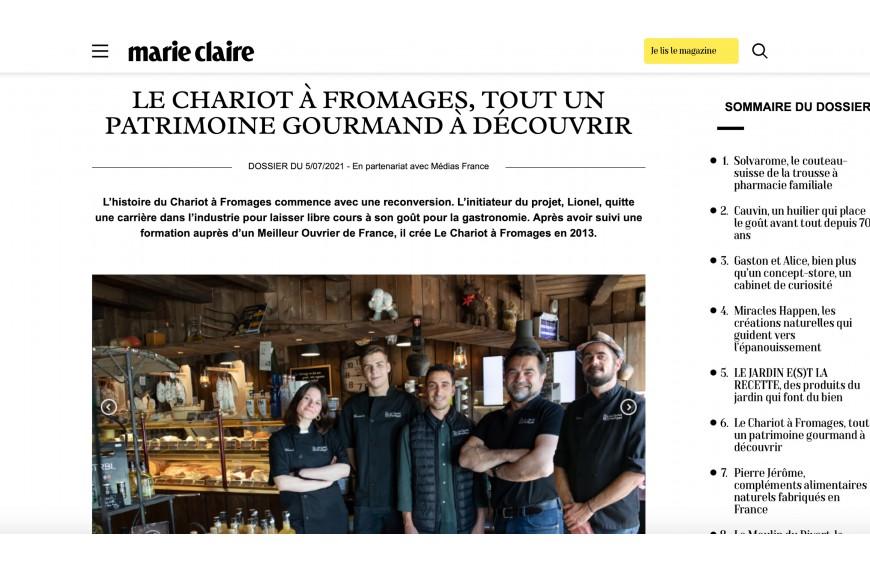 Le Chariot dans Marie Claire !